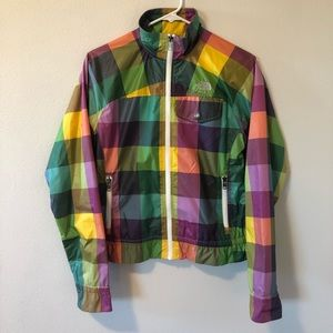 Vintage North Face Plaid Windbreaker Jacket Small